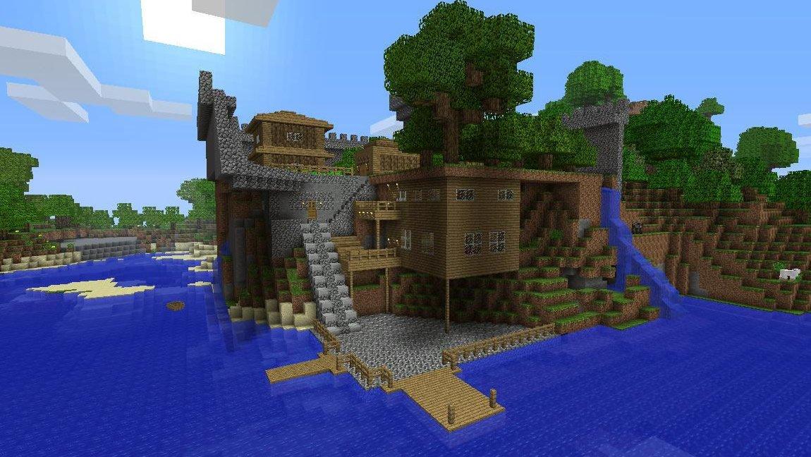 Minecraft xbox 360 edition recensione guideconsole for Case belle su minecraft