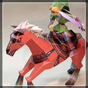 Papercraft Zelda: Link ed Epona