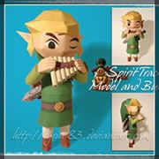 Papecraft Zelda: Link Spirit Tracks