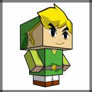 Zelda's toon link papercraft
