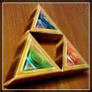 Papercraft della Triforza di Zelda