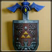 wind walk master sword e scudo da muro papercraft